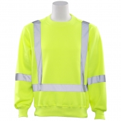 ERB W143 Class 3 Crew Neck Safety Sweatshirt - Yellow/Lime