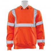 ERB W376 Class 3 Hooded Safety Sweatshirt - Orange