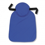Ergodyne Chill-Its 6717 Cooling Hard Hat Pad with Polymers & Neck Shade - Blue