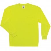 Ergodyne GloWear 8091 Non-Certified Long Sleeve Safety T-Shirt - Yellow/Lime