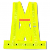 Ergodyne GloWear 8140HG Hi-Gloss Sash - Snap Closure - Yellow/Lime