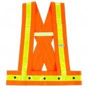 Ergodyne GloWear 8140HG Hi-Gloss Sash - Snap Closure - Orange