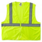 Ergodyne GloWear 8205Z Super Econo Vest - Zipper Closure - Yellow/Lime