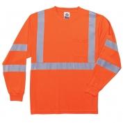 Ergodyne GloWear 8391 Class 3 Long Sleeve Safety Shirt - Orange