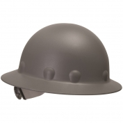 Fibre Metal P1ARW Full Brim Roughneck Hard Hat - Ratchet Suspension - Gray