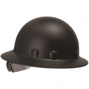 Fibre Metal P1ARW Full Brim Roughneck Hard Hat - Ratchet Suspension - Black