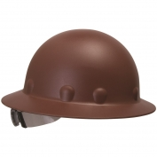 Fibre Metal P1ARW Full Brim Roughneck Hard Hat - Ratchet Suspension - Brown
