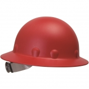 Fibre Metal P1ARW Full Brim Roughneck Hard Hat - Ratchet Suspension - Red