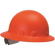 Fibre Metal P1ARW Full Brim Roughneck Hard Hat - Ratchet Suspension - Hi-Viz Orange