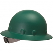 Fibre Metal P1ARW Full Brim Roughneck Hard Hat - Ratchet Suspension - Green