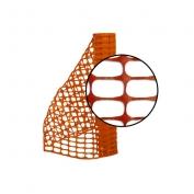 Resinet Economy Crowd Control Barrier Fence - Orange - 4 ft x 100 ft