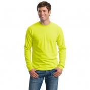 Gildan G2400 Ultra Cotton Long Sleeve T-Shirt - Safety Green