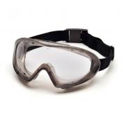 Pyramex Capstone Goggles - Gray Frame - Clear Anti-Fog Lens