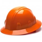 Pyramex HP24140 Full Brim Hard Hat - 4-Point Ratchet Suspension - Orange