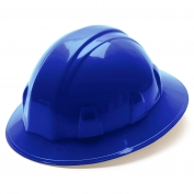 Pyramex HP24160 Full Brim Hard Hat - 4-Point Ratchet Suspension - Blue