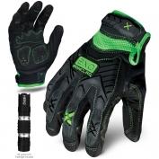 Ironclad EXO-MIG Motor Impact Gloves - Includes 50 Lumen LED Flashlight