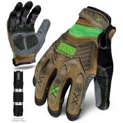 Ironclad EXO-PIG Project Impact Gloves - Includes 50 Lumen LED Flashlight