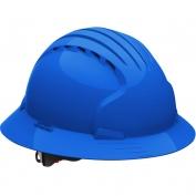 JSP Evolution 6161V Deluxe Full Brim Vented Hard Hat - Wheel Ratchet Suspension - Blue