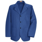 Red Kap Men\\\'s Lapel Counter Coat - Royal Blue