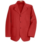 Red Kap Men\\\'s Lapel Counter Coat - Red