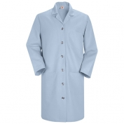 Red Kap Women\\\'s Button Front Lab Coat -Light Blue