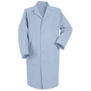 Red Kap Men\\\'s Five Snap Front Lab Coat - Light Blue