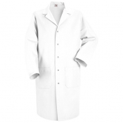 Red Kap Men\\\'s Five Snap Front Lab Coat - White