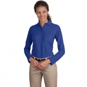 Port Authority L500LS Ladies Long Sleeve Silk Touch Polo - Royal