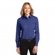 Port Authority L608 Ladies Long Sleeve Easy Care Shirt - Mediterranean Blue