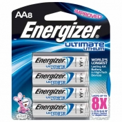 Energizer Lithium AA Batteries, e2, 8-pack