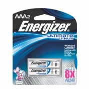 AAA Energizer e2 Lithium Batteries 2-pack