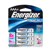 Energizer Lithium AAA Batteries, e2, 4-pack