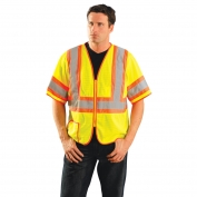OccuNomix LUX-HSCLC3Z Class 3 Two-Tone Safety Vest - Yellow/Lime