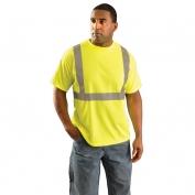OccuNomix LUX-SSETP2B Class 2 Wicking Birdseye Mesh Safety T-Shirt - Yellow/Lime