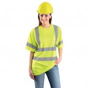 OccuNomix LUX-SSETP3B Class 3 Wicking Birdseye Mesh Safety T-Shirt - Yellow/Lime