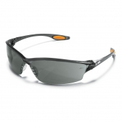 Crews Law 2 Safety Glasses - Smoke Frame - Gray Anti-Fog Lens