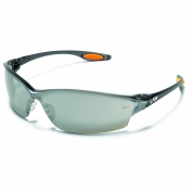 Crews Law 2 Safety Glasses - Smoke Frame - Silver Mirror Lens