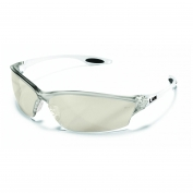 Crews Law 2 Safety Glasses - Clear Frame - Indoor/Outdoor Mirror Lens