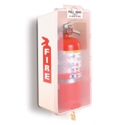 Mark II Jr. Plastic Fire Extinguisher Cabinet White Tub/Clear Cover