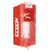 Mark II Jr. Plastic Fire Extinguisher Cabinet White Tub/Red Cover