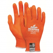 Memphis 9178NFO Cut Resistant Hi-Vis Orange Knit Gloves - 13 Gauge Kevlar Shell - Nitrile Foam Palm