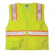 ML Kishigo 1163 Solid Front Mesh Back Safety Vest - Yellow/Lime