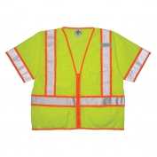 ML Kishigo 1242 Ultra-Cool Mesh Class 3 Surveyor Safety Vest - Yellow/Lime