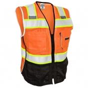 ML Kishigo 1516 Black Series Black Bottom Safety Vest - Orange