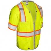 ML Kishigo 1550 Brilliant Series Class 3 Heavy Duty Safety Vest - Yellow/Lime