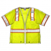 ML Kishigo 1552B Brilliant Series Class 3 Breakaway Safety Vest - Yellow/Lime