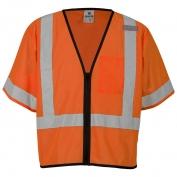 ML Kishigo 1568 Economy Class 3 Single Pocket Zipper Safety Vest - Orange