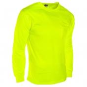 ML Kishigo 9122 Microfiber Long Sleeve T-Shirt - Yellow/Lime