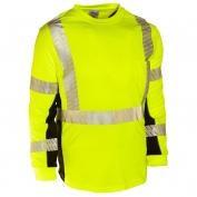 ML Kishigo 9134 Black Series Class 3 Long Sleeve T-Shirt - Yellow/Lime
