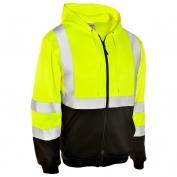 ML Kishigo JS102 Full Zip Hoodie Sweatshirt - Yellow/Lime